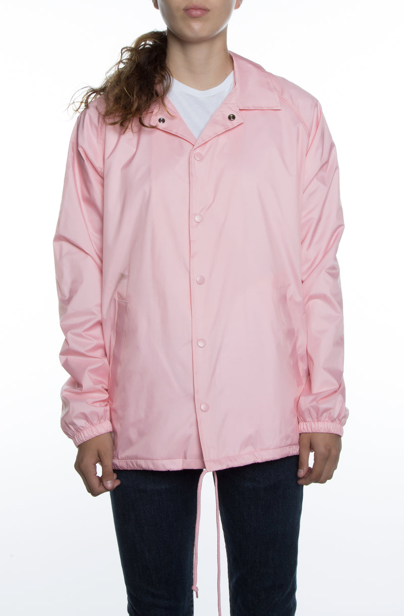 Women's Coaches Jacket Pink - COTTONHOOD