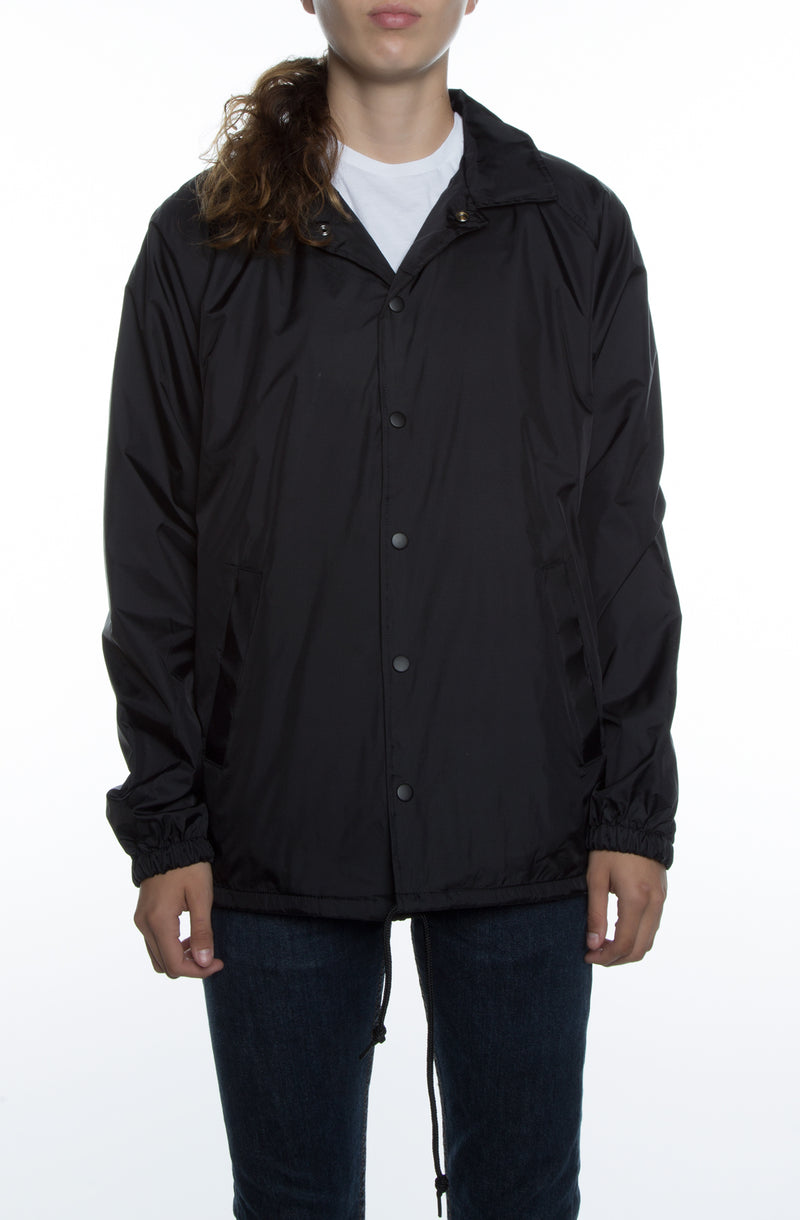 Women's Coaches Jacket Black - COTTONHOOD