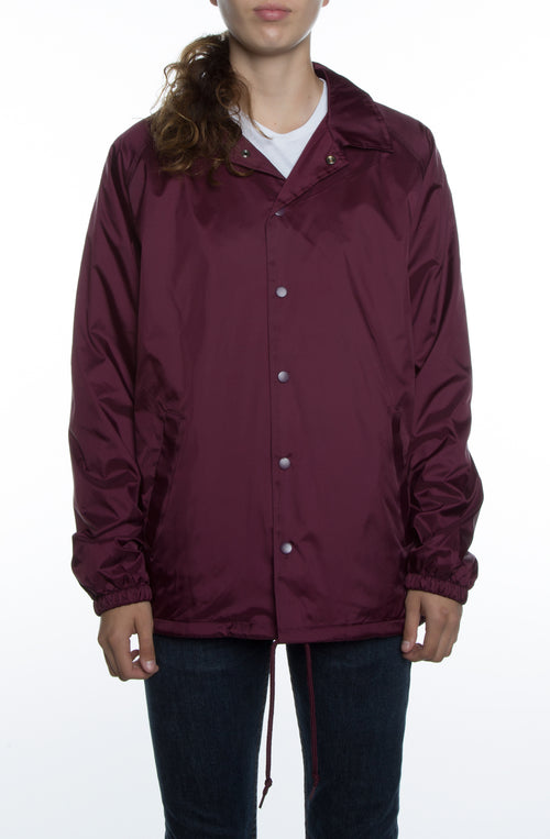 Women's Coaches Jacket Maroon - COTTONHOOD