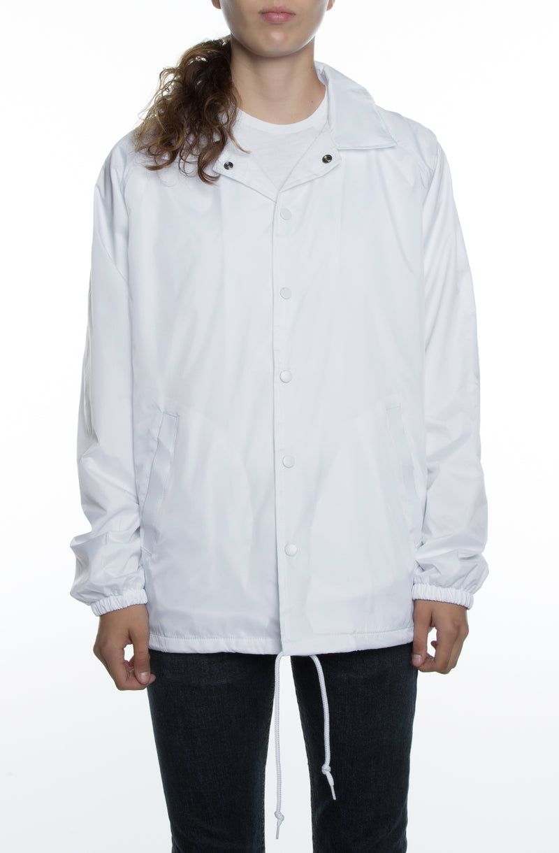 Women's Coaches Jacket White - COTTONHOOD