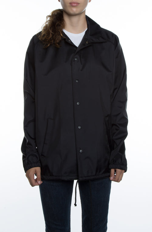 Women's Bonded Coaches Jacket Black - COTTONHOOD