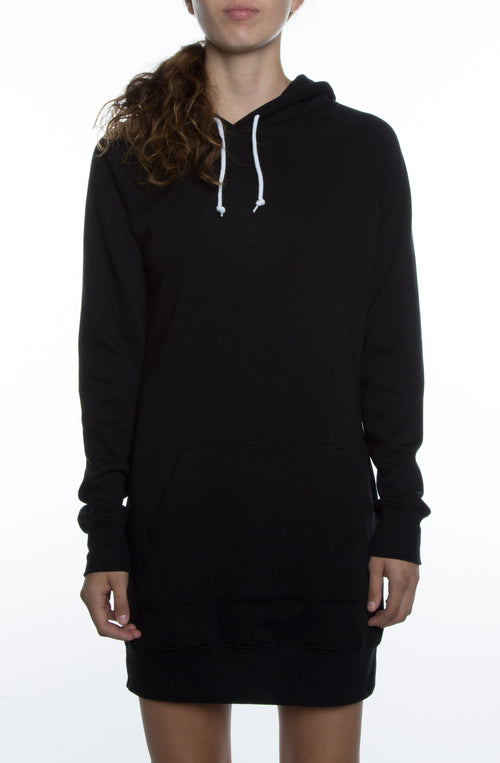 Misses Dress Hoodie Black - COTTONHOOD
