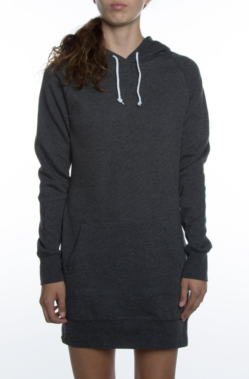Misses Dress Hoodie Charcoal Grey - COTTONHOOD