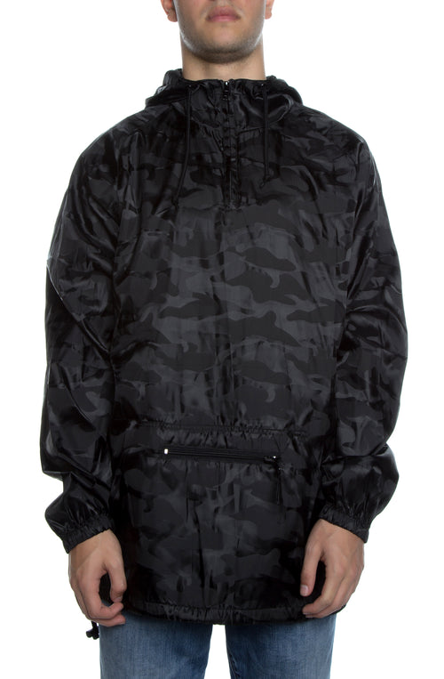 Packable Anorak 3D Pullover Jacket Black - COTTONHOOD