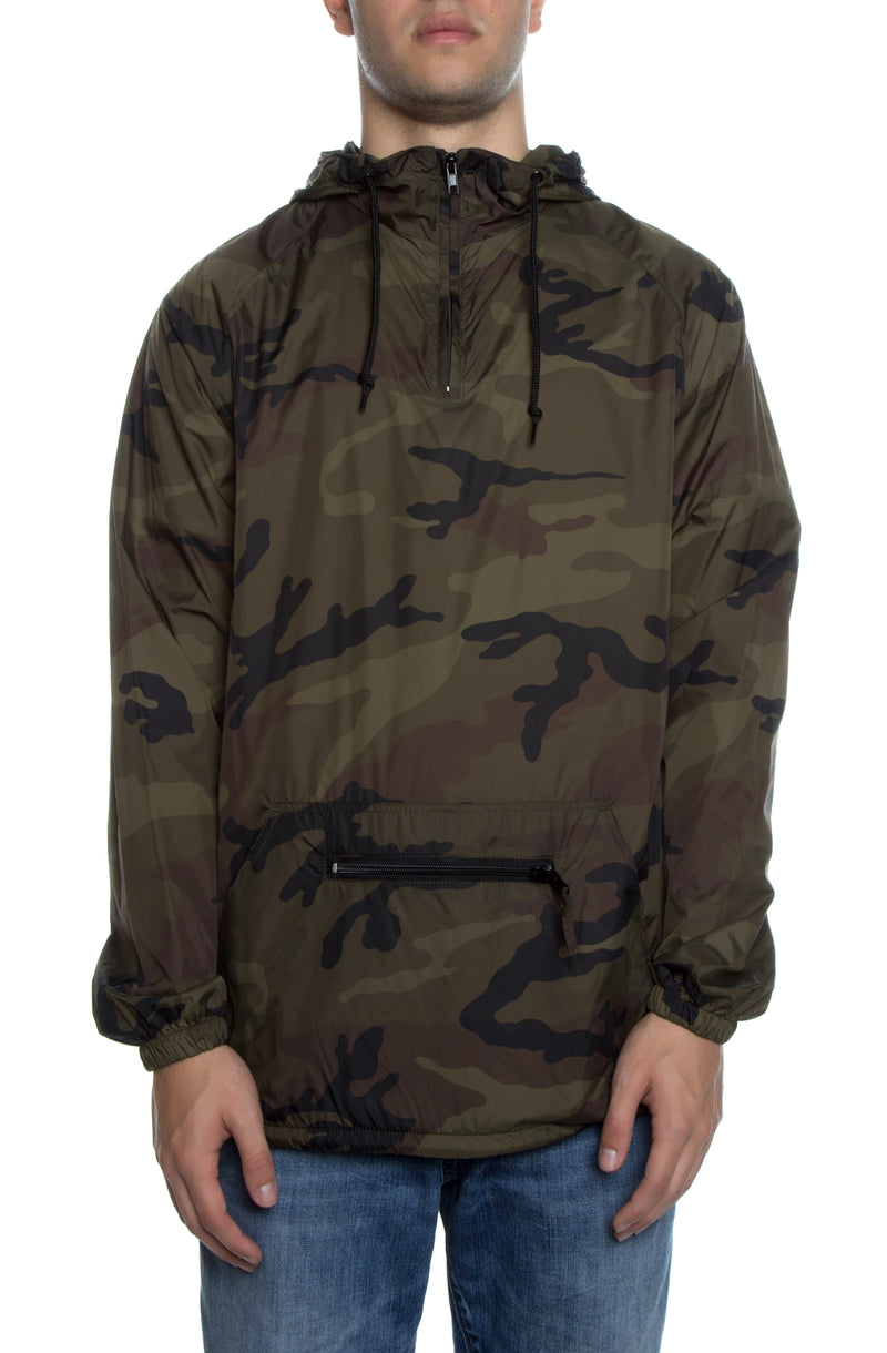 Packable Anorak Pullover Nylon Shell Camo - COTTONHOOD