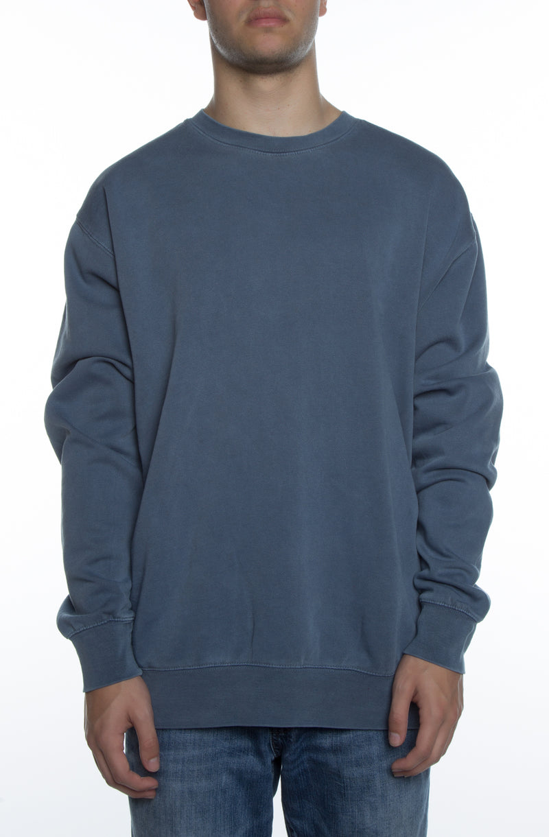 Pigment Dyed Crew Blue - COTTONHOOD
