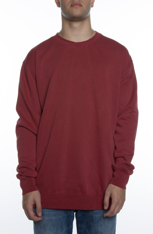 Men's Pigment Dyed Crew Red