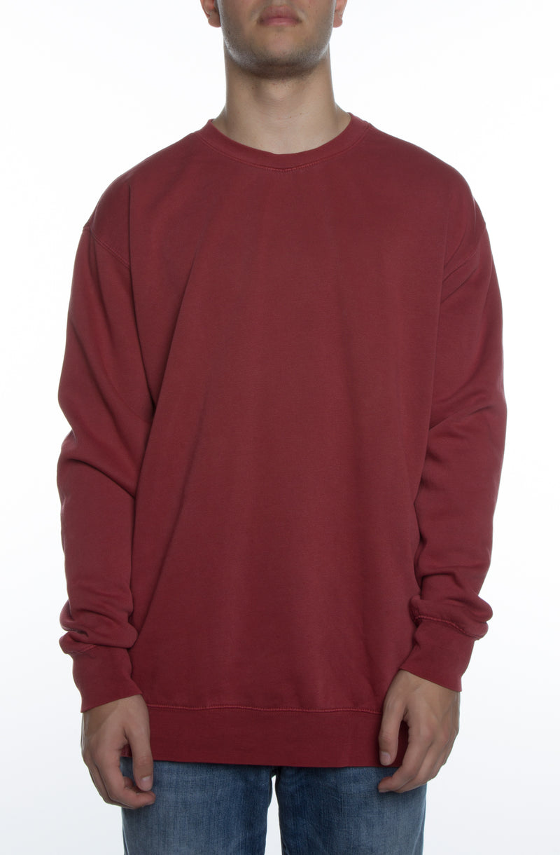 Pigment Dyed Crew Red - COTTONHOOD