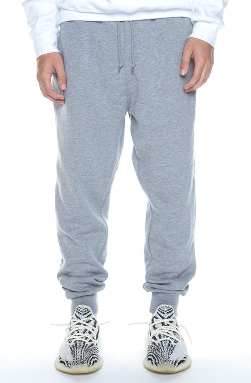 Jogger Fleece Pants Heather Grey - COTTONHOOD