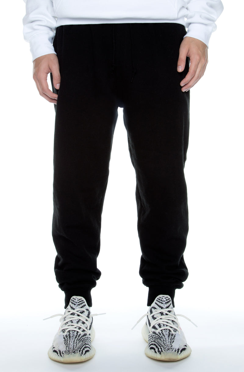Jogger Fleece Pants Black - COTTONHOOD