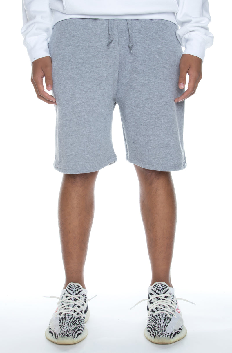 Premium Fleece Shorts Heather Grey - COTTONHOOD