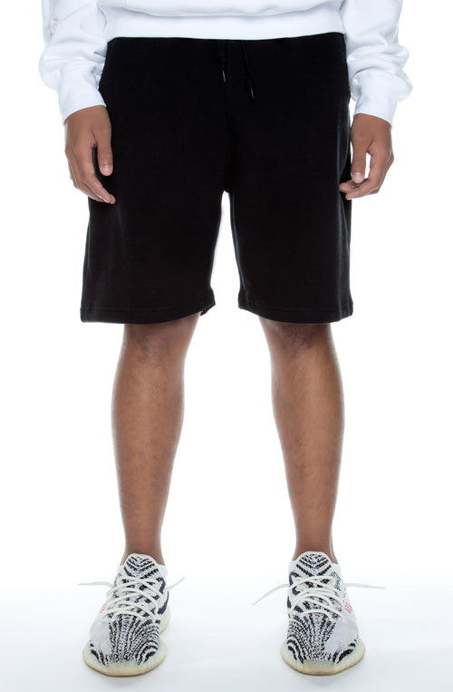 Premium Fleece Shorts Black - COTTONHOOD