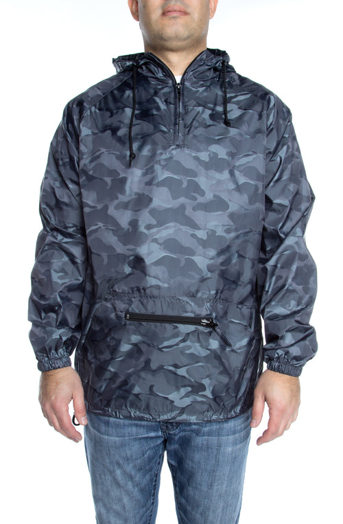 Packable Anorak 3D Pullover Jacket Charcoal - COTTONHOOD