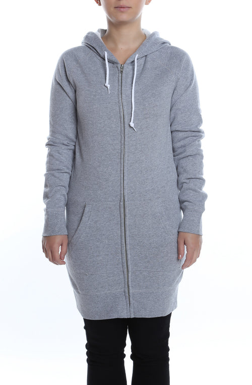 Misses Zip Dress Hoodie Heather Grey