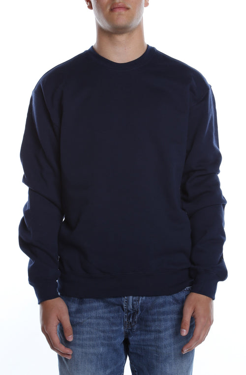 Men's Basic Crew Fleece Deep Navy - COTTONHOOD