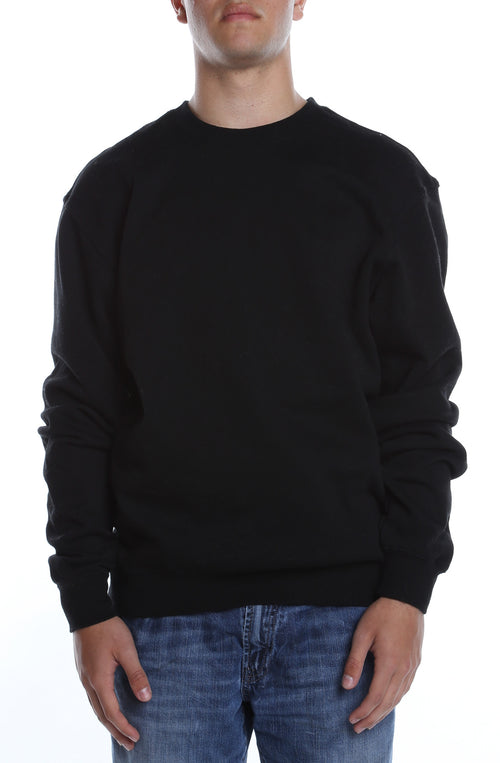 Men's Basic Crew Fleece Black - COTTONHOOD