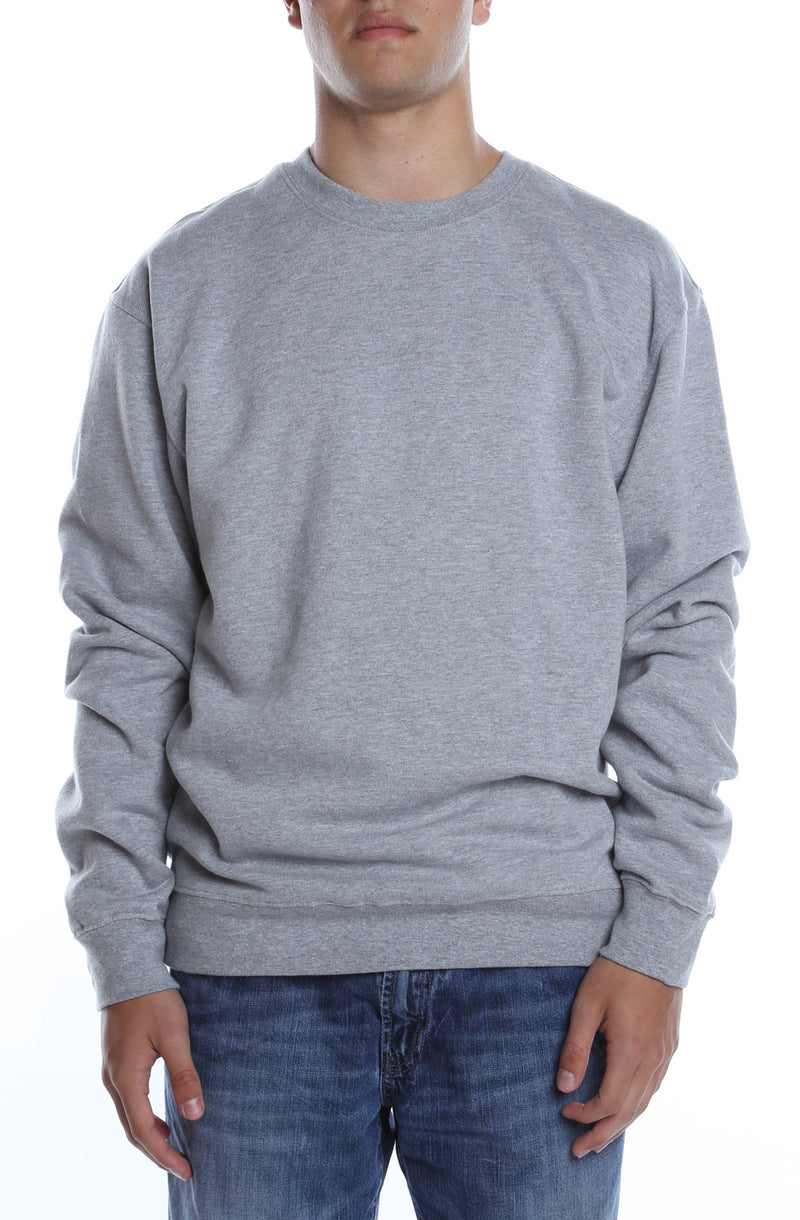 Men's Basic Crew Fleece Heather Grey