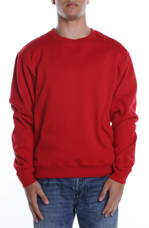 Men's Basic Crew Fleece Scarlet - COTTONHOOD