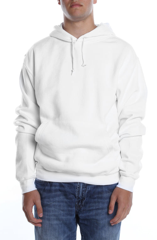 Men's Basic Hoodie White - COTTONHOOD