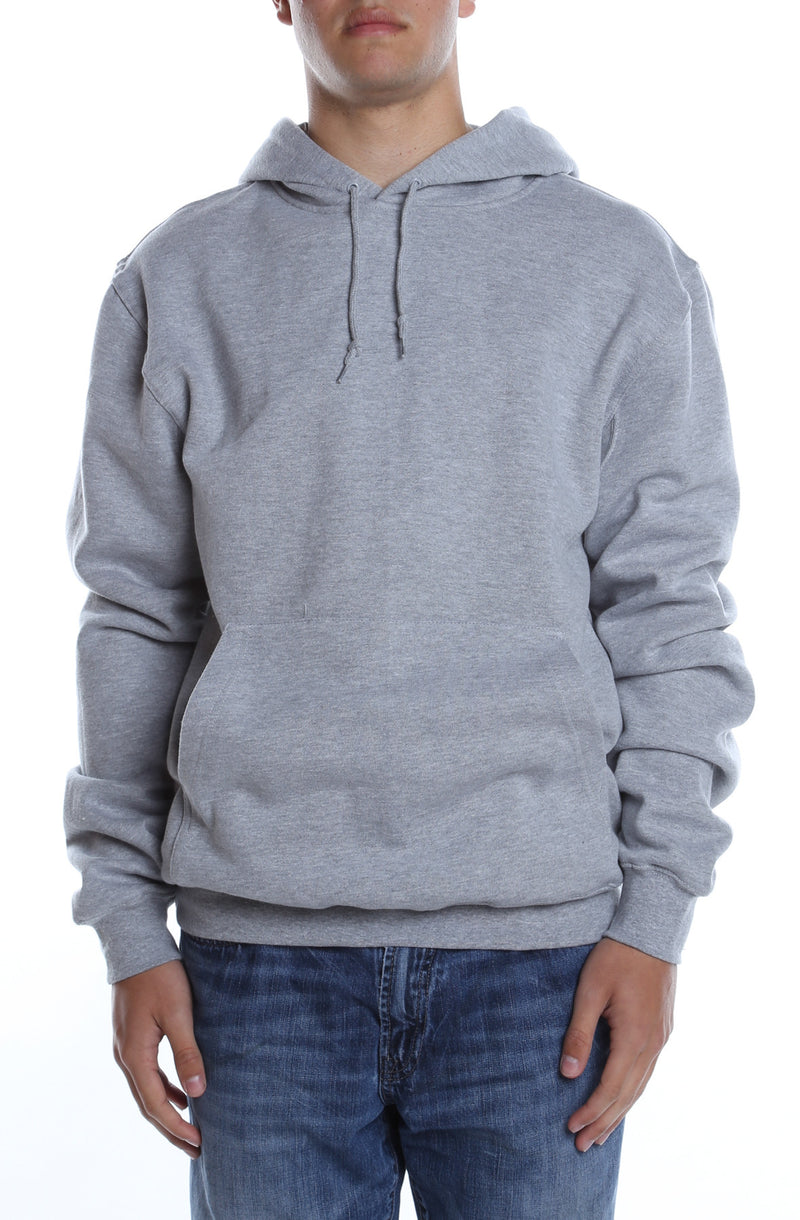 Men's Basic Hoodie Heather Grey - COTTONHOOD