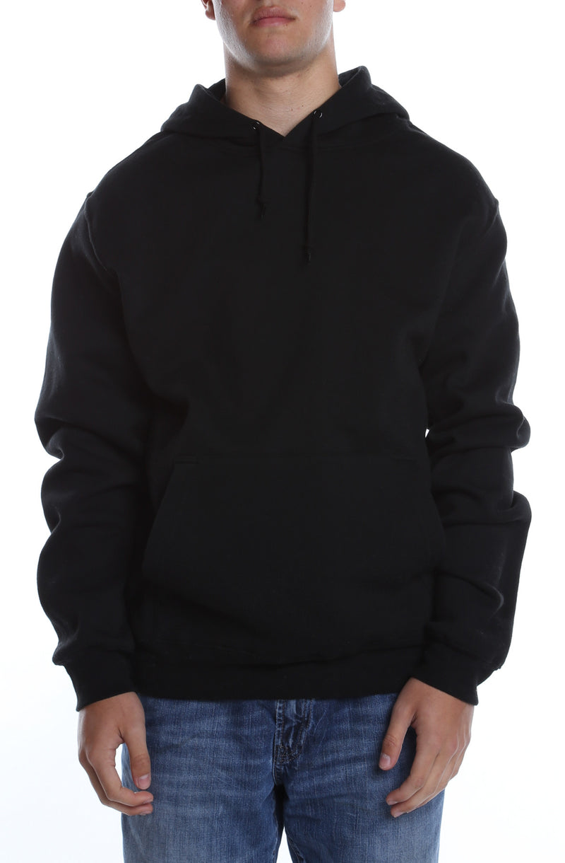 Men's Basic Hoodie Black - COTTONHOOD