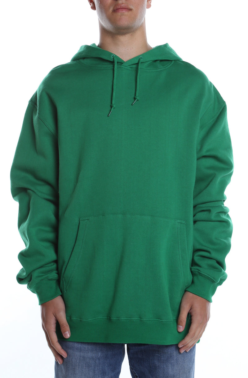Men's Basic Hoodie Kelly Green - COTTONHOOD