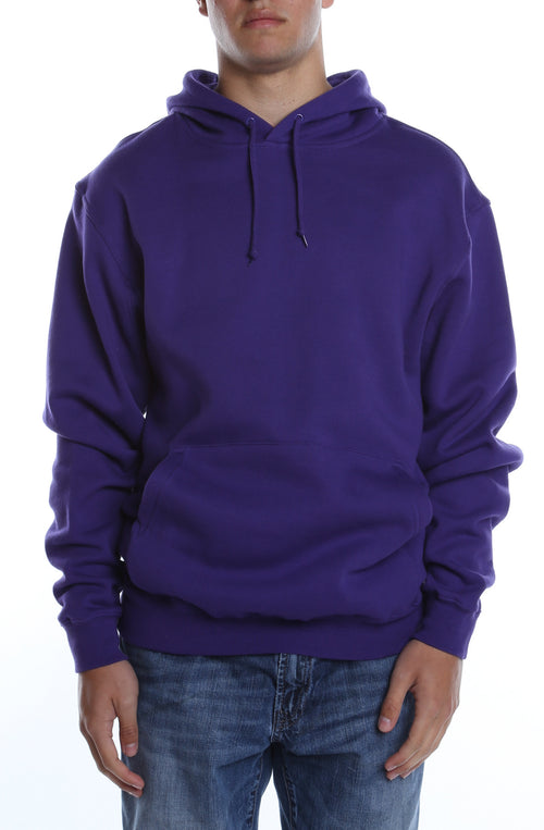 Men's Basic Hoodie Purple - COTTONHOOD