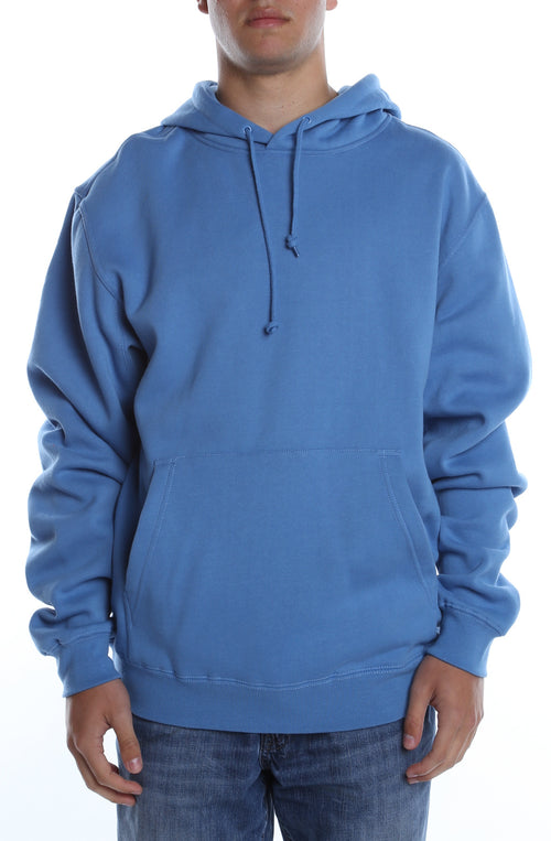 Men's Basic Hoodie Columbia Blue - COTTONHOOD