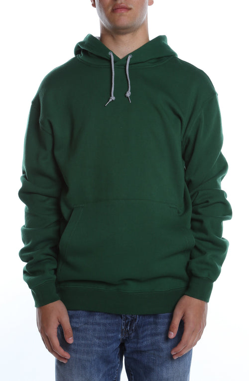 Collegiate Contrast Hoodie Dark Green/Heather Grey - COTTONHOOD