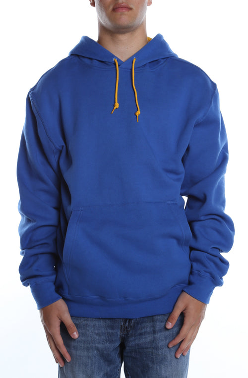 Collegiate Contrast Hoodie Royal/Gold - COTTONHOOD