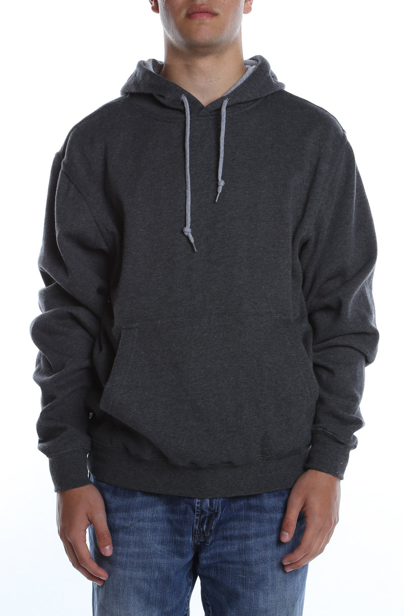 Collegiate Contrast Hoodie Charcoal/Heather Grey - COTTONHOOD