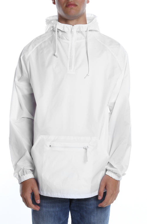 Packable Anorak Pullover Nylon Shell White