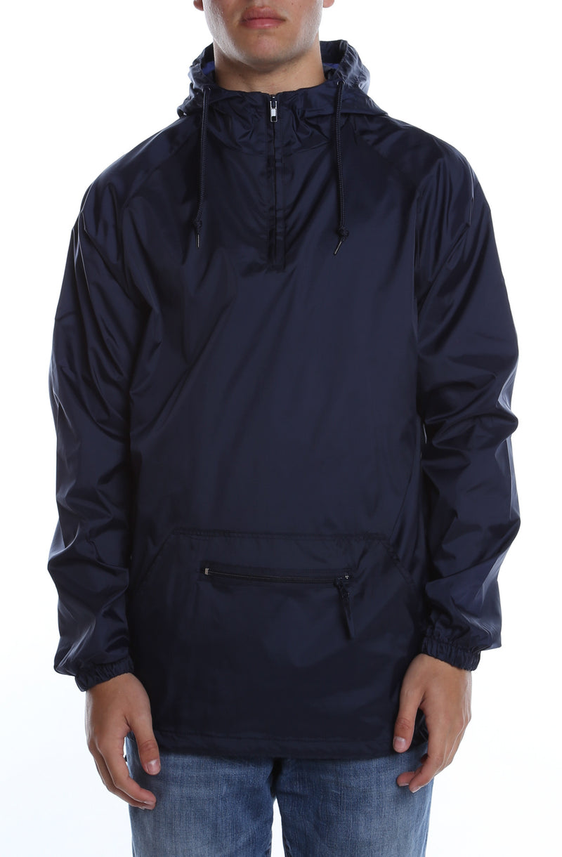 Packable Anorak Pullover Nylon Shell Deep Navy - COTTONHOOD