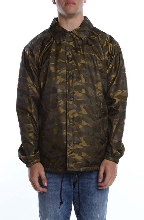 3D Camo Nylon Coaches Jacket New Gold