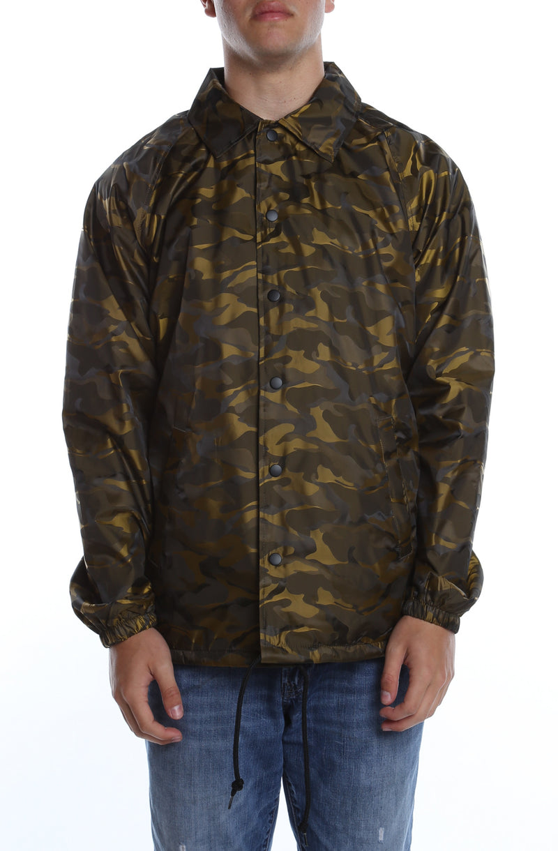 3D Camo Nylon Coaches Jacket New Gold - COTTONHOOD
