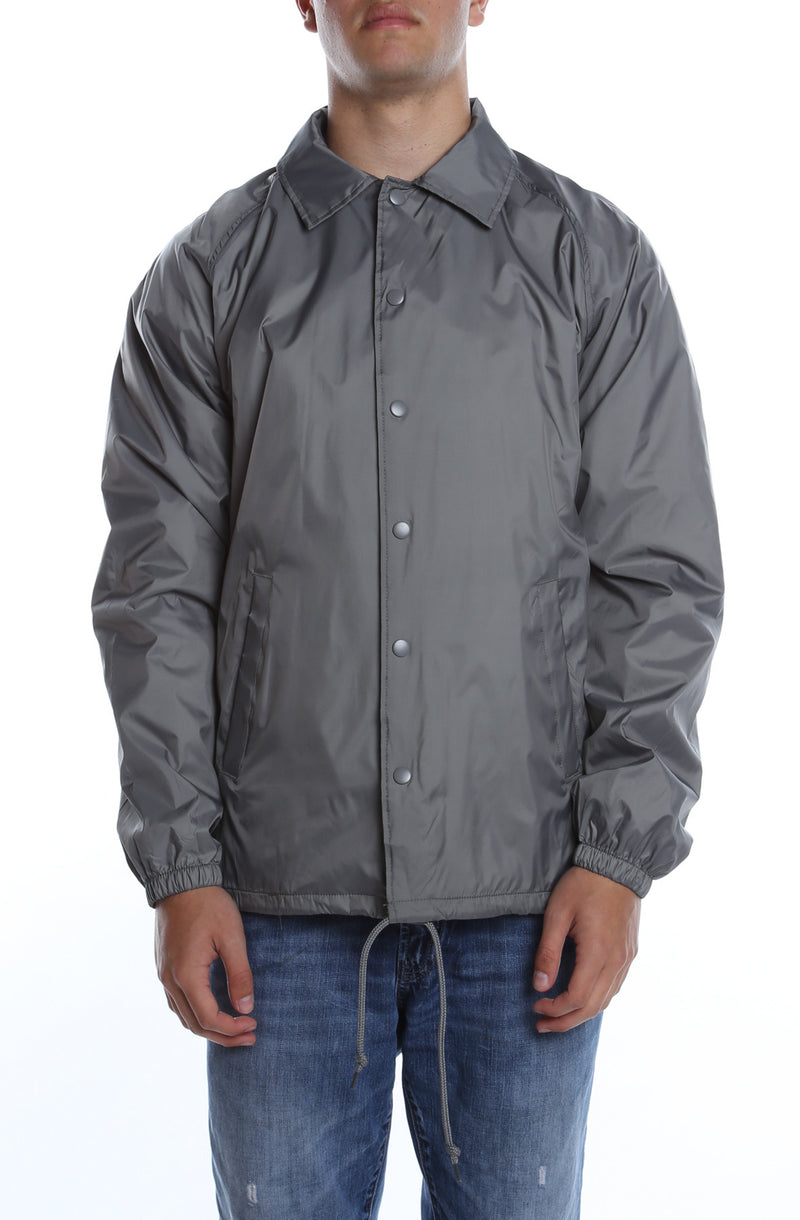 Coaches Jacket Grey - COTTONHOOD