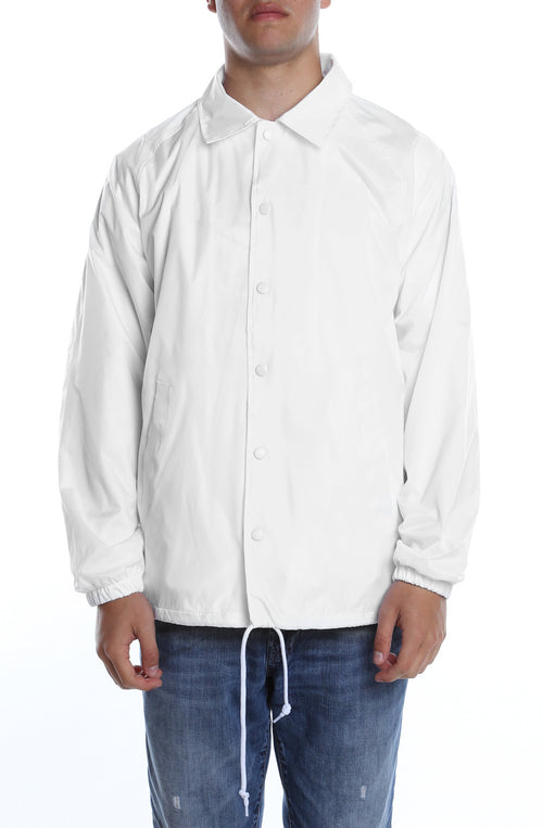 Coaches Jacket White - COTTONHOOD