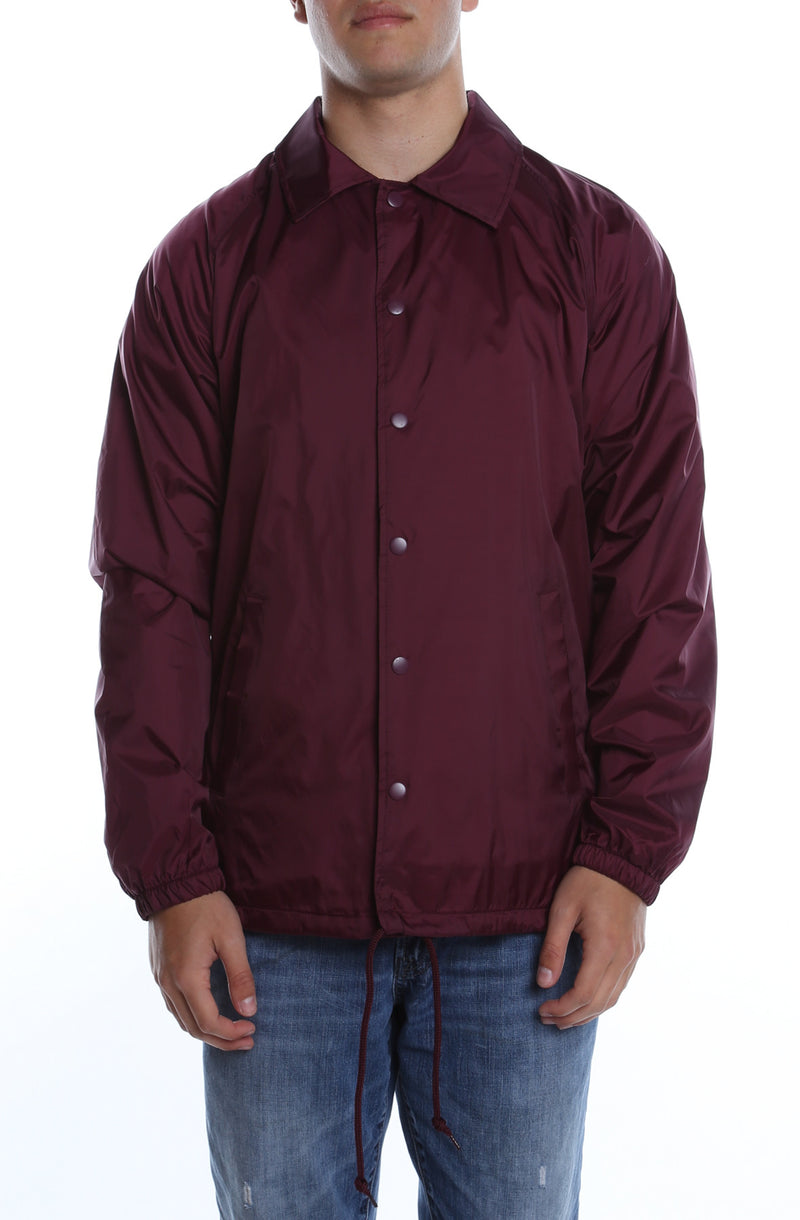 Coaches Jacket Maroon - COTTONHOOD