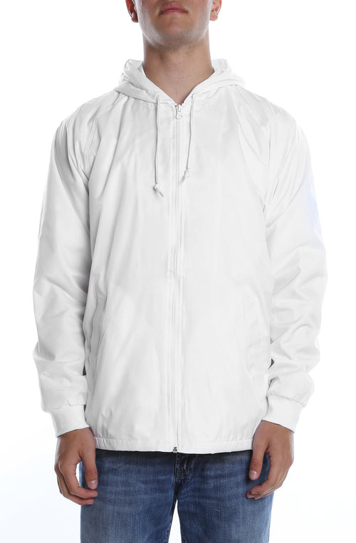 Coaches Hooded Full Zip Jacket White - COTTONHOOD
