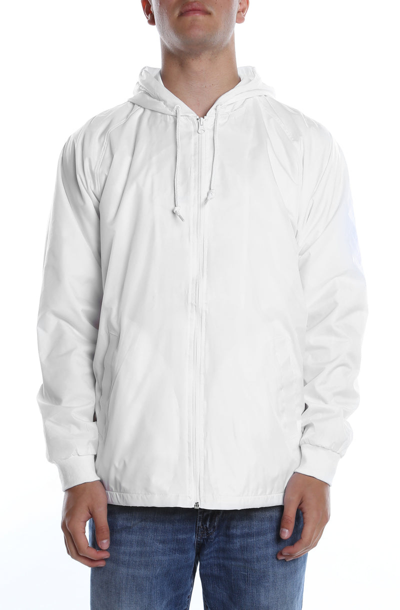Coaches Hooded Full Zip Jacket White