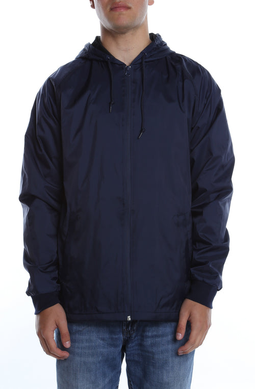 Coaches Hooded Full Zip Jacket Deep Navy - COTTONHOOD