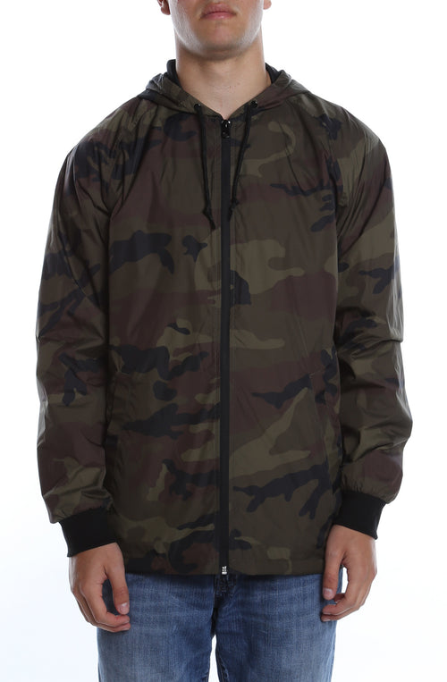Coaches Hooded Full Zip Jacket Camo - COTTONHOOD