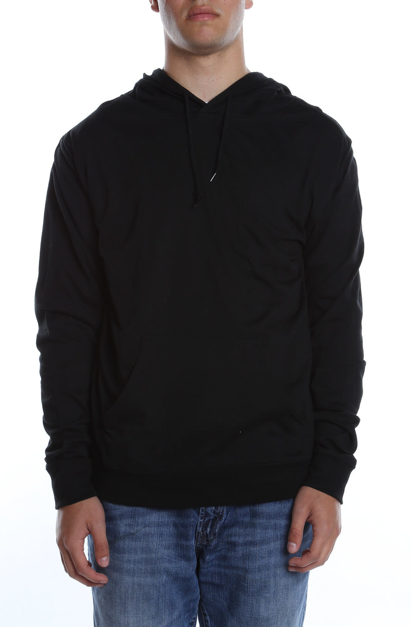 Men's Beach Jersey Hoodie Black - COTTONHOOD