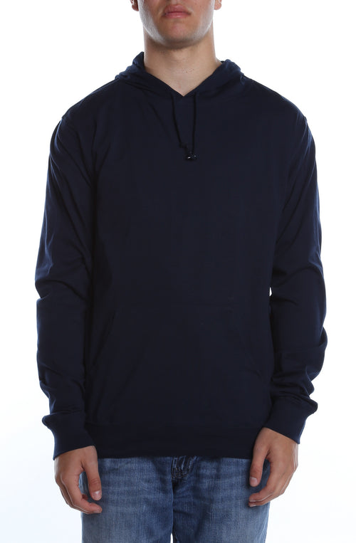 Men's Beach Jersey Hoodie Deep Navy - COTTONHOOD