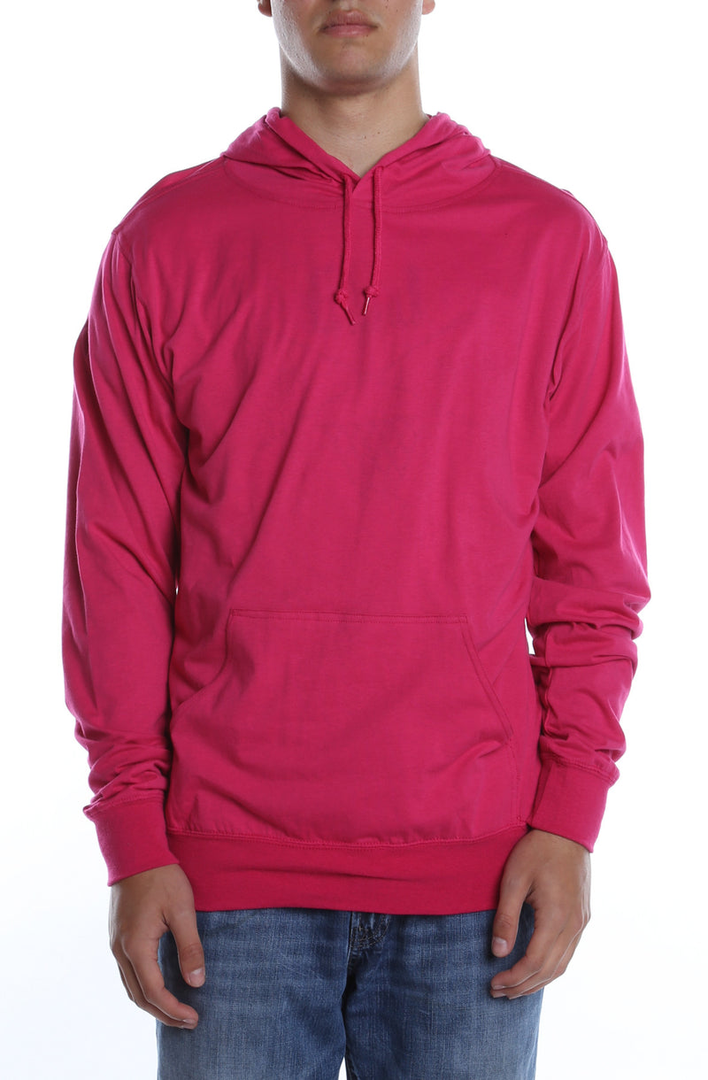 Men's Beach Jersey Hoodie Fuchsia - COTTONHOOD