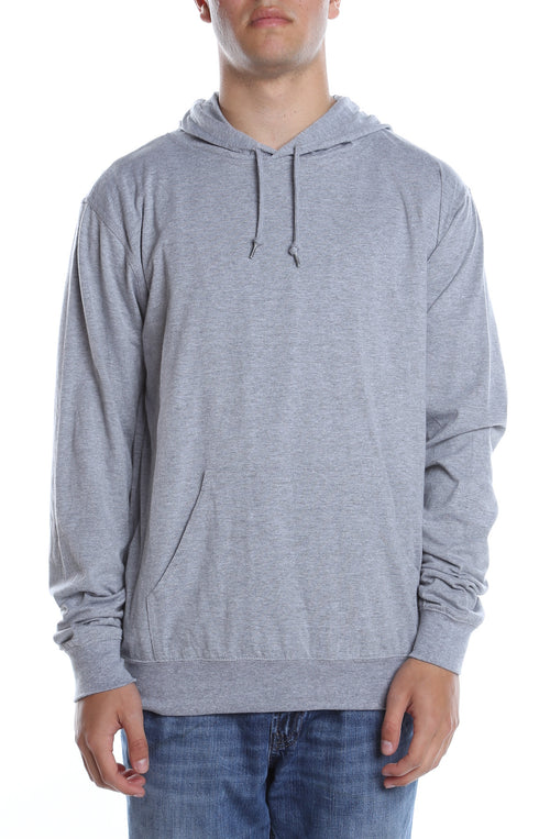Men's Beach Jersey Hoodie Heather Grey - COTTONHOOD
