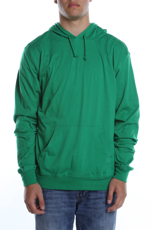 Men's Beach Jersey Hoodie Kelly Green