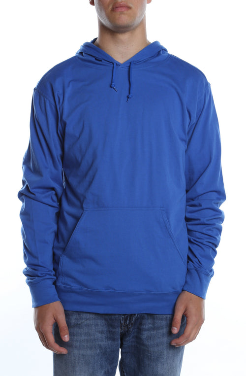 Men's Beach Jersey Hoodie Royal - COTTONHOOD