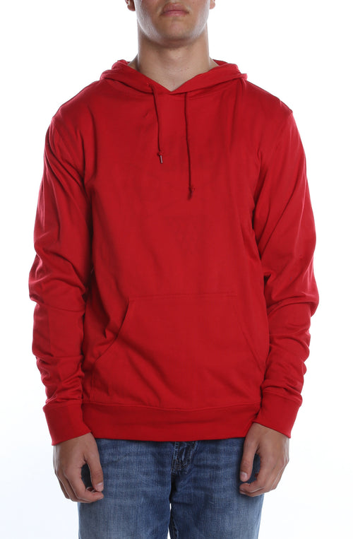 Men's Beach Jersey Hoodie Scarlet - COTTONHOOD