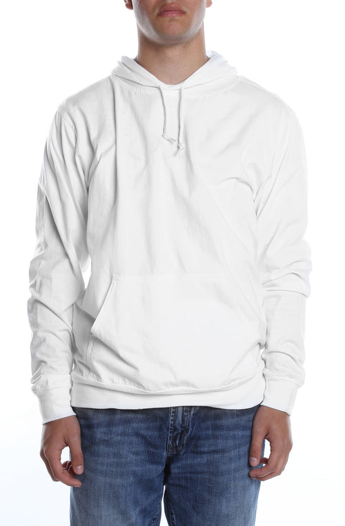 Men's Beach Jersey Hoodie White - COTTONHOOD